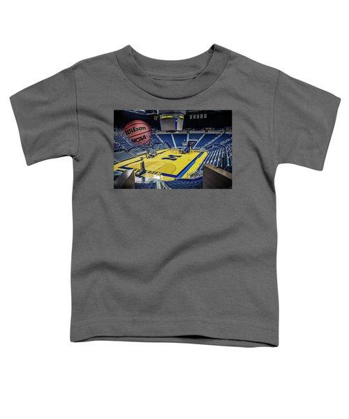 University Of Michigan Basketball Toddler T-Shirt by Nicholas Grunas
