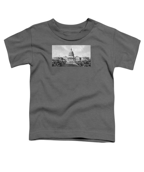 Us Capitol Building Toddler T-Shirt by War Is Hell Store