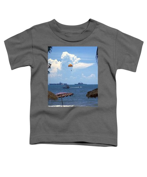 Toddler T-Shirt featuring the photograph Us Navy Off Pattaya by Travel Pics