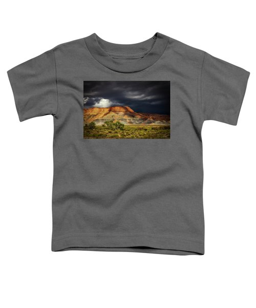 Utah Mountain With Storm Clouds Toddler T-Shirt