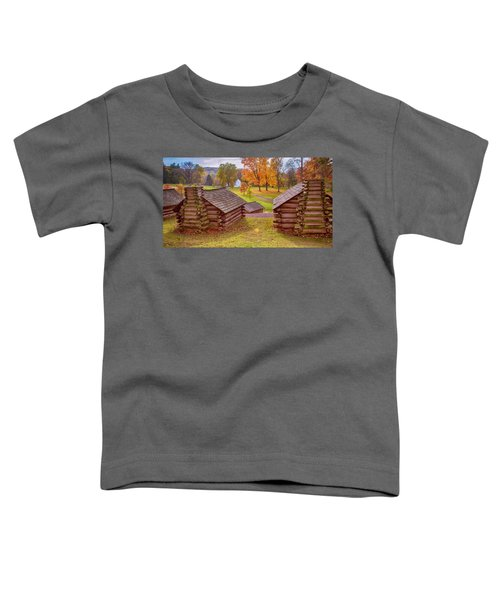 Valley Forge Huts In Fall Toddler T-Shirt