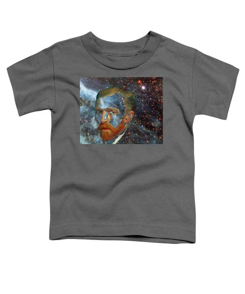 Van Gogh Art Study In Blue Toddler T-Shirt