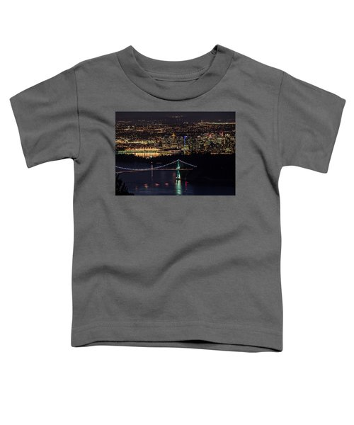 Vancouver Night From Cypress Mountain Toddler T-Shirt