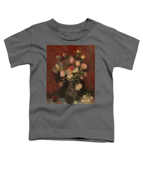 Vase With Chinese Asters And Gladioli Toddler T-Shirt