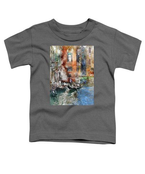 Venetian Gondolier In Venice Italy Toddler T-Shirt