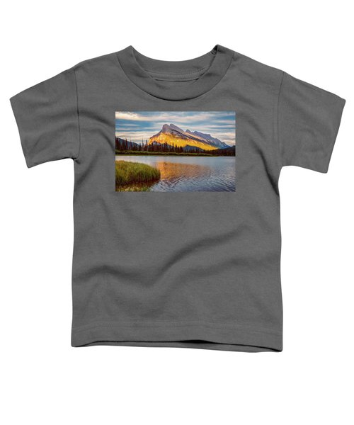 Vermillion Lakes And Mt Rundle II Toddler T-Shirt