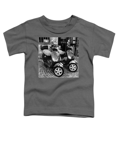 Vespa Twins Black And White Toddler T-Shirt