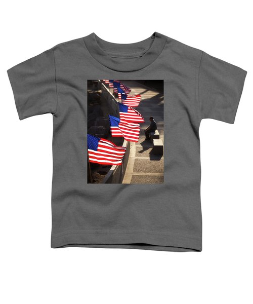 Veteran With Our Nations Flags Toddler T-Shirt