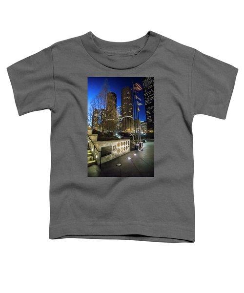 Veteran's Memorial On The Chicago Riverwalk At Dusk Toddler T-Shirt