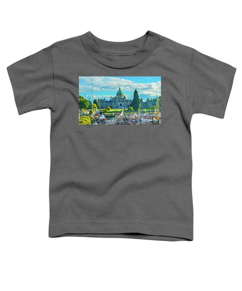 Victoria Bc Parliament Harbor Toddler T-Shirt