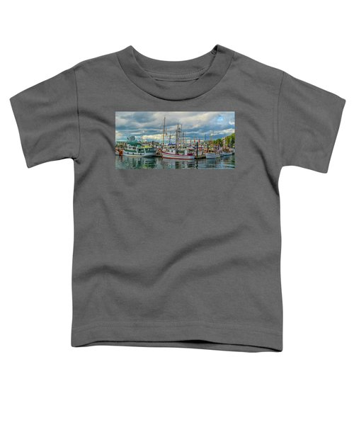 Victoria Harbor Boats Toddler T-Shirt