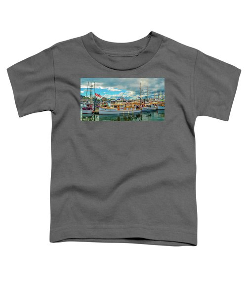 Victoria Harbor Old Boats Toddler T-Shirt