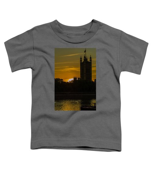 Victoria Tower In London Golden Hour Toddler T-Shirt
