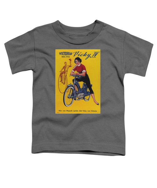 Victoria Vicky Iv - Motorcycle - Vintage Advertising Poster Toddler T-Shirt