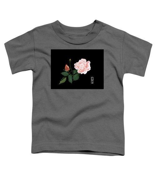 Toddler T-Shirt featuring the digital art Victorian Rose by Gerry Morgan