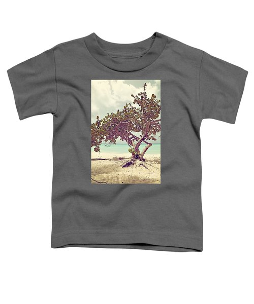 View At The Ocean With Boats In The Water Toddler T-Shirt