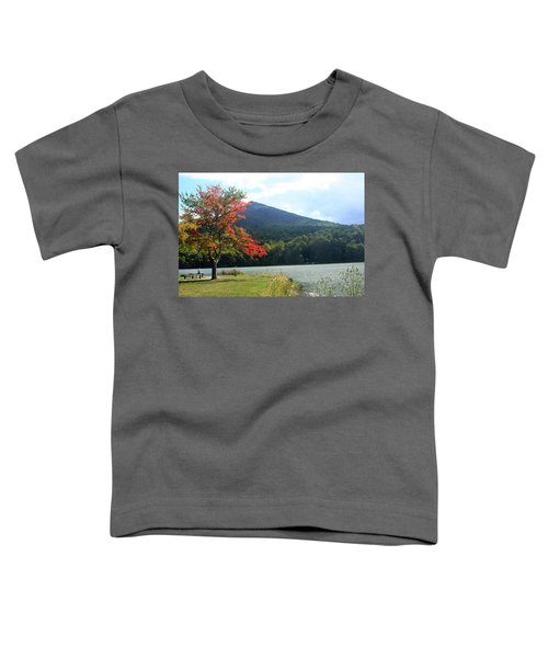 View Of Abbott Lake And Sharp Top In Autumn Toddler T-Shirt