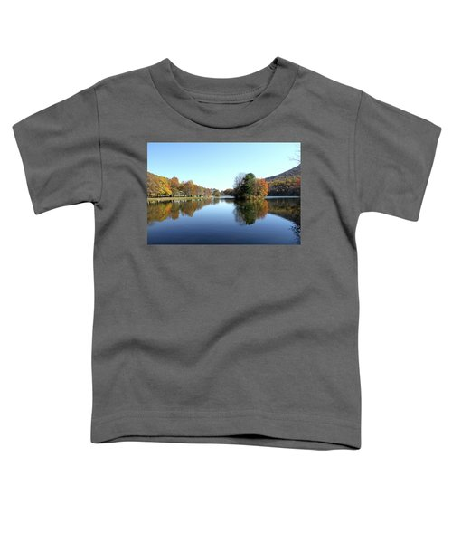 View Of Abbott Lake With Trees On Island, In Autumn Toddler T-Shirt