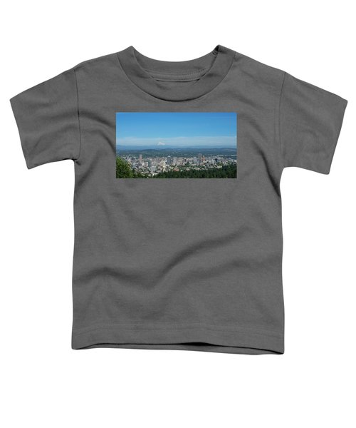 View Of Downtown Portland Oregon From Pittock Mansion Toddler T-Shirt