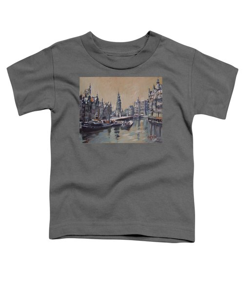 View To The Mint Tower Amsterdam Toddler T-Shirt by Nop Briex