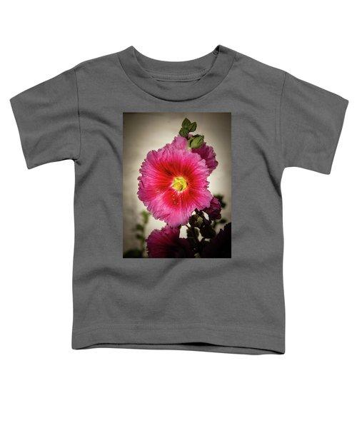 Vignetted Hollyhock Toddler T-Shirt