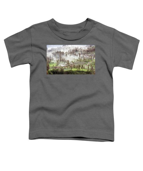 Village Covered With Mist Toddler T-Shirt