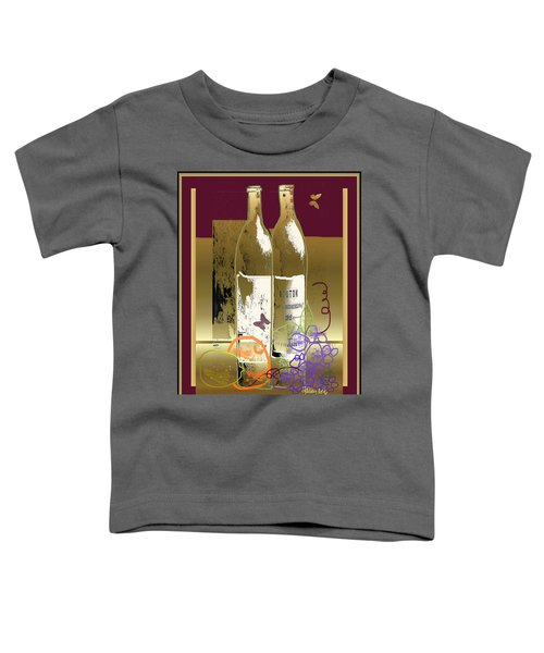 Vin, Fruit, Et Papillons Toddler T-Shirt