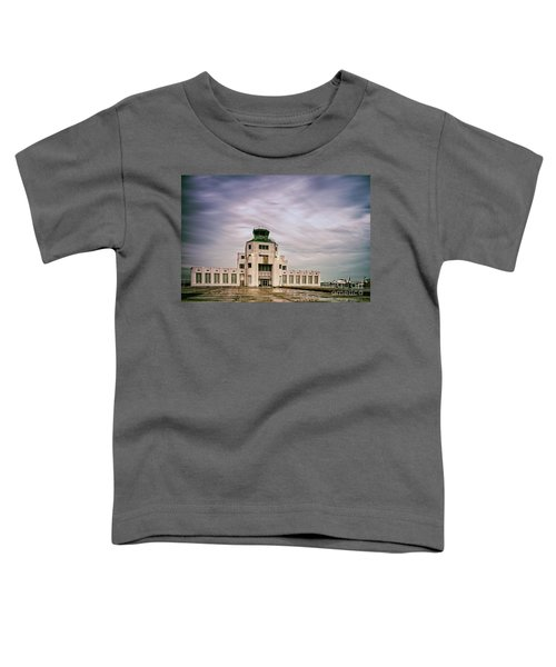 Vintage Architectural Photograph Of The 1940 Air Terminual Museum - Hobby Airport Houston Texas Toddler T-Shirt
