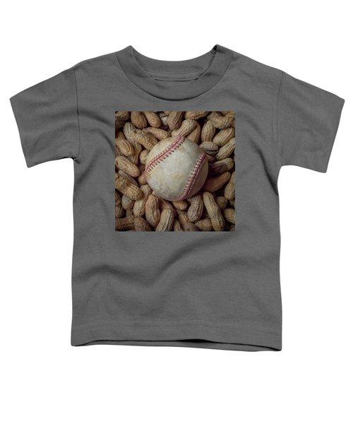 Vintage Baseball And Peanuts Square Toddler T-Shirt