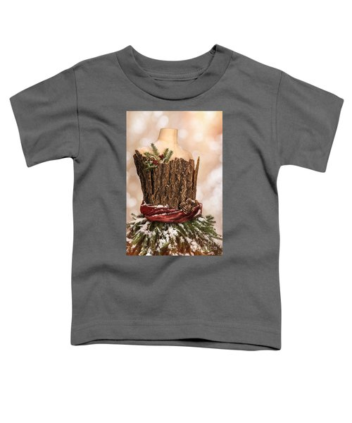 Vintage Christmas Greetings Card Toddler T-Shirt