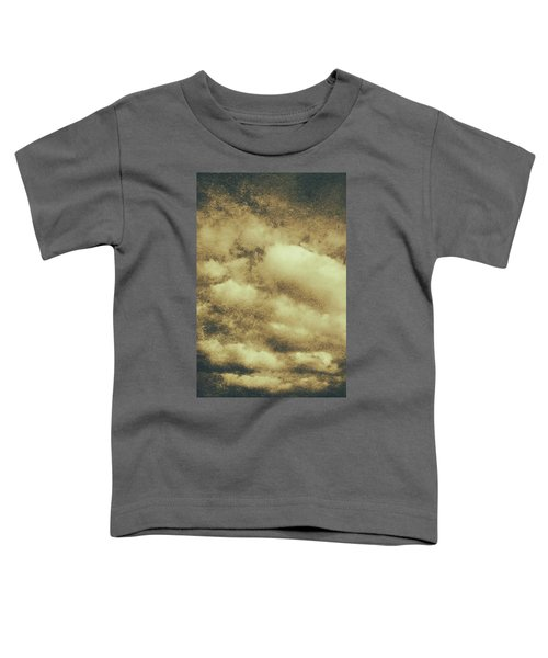 Vintage Cloudy Sky. Old Day Background Toddler T-Shirt