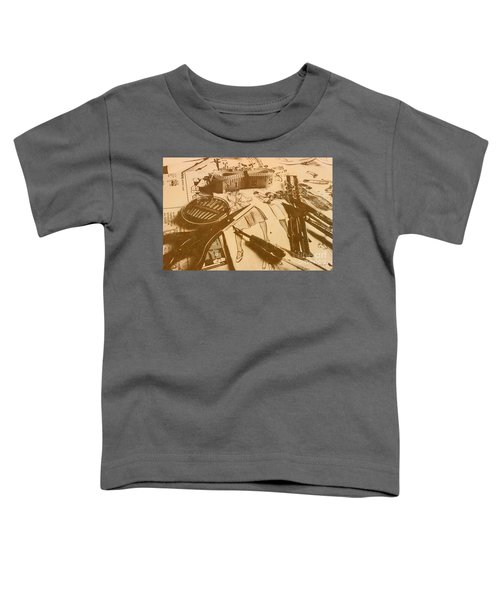 Vintage Fashion Design Toddler T-Shirt