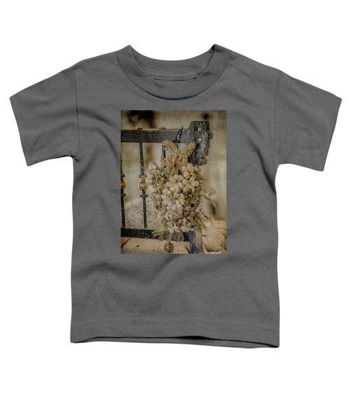 Vintage Floral Swag On A Bedpost Toddler T-Shirt