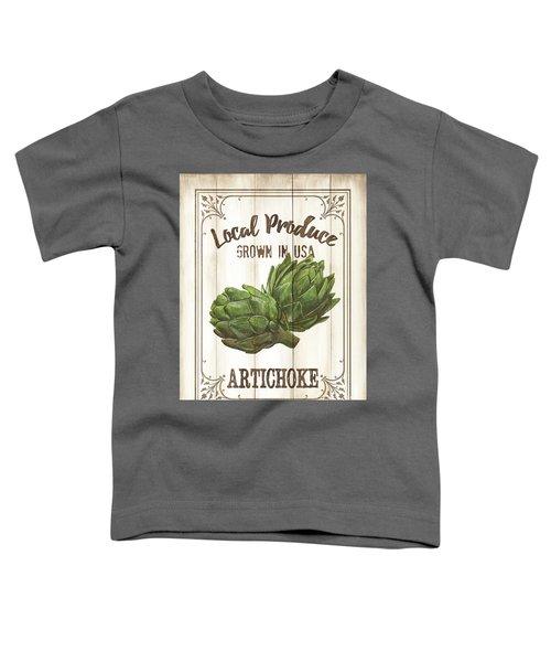 Vintage Fresh Vegetables 2 Toddler T-Shirt by Debbie DeWitt