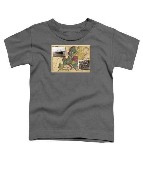 Vintage Map Europe Immigrants Toddler T-Shirt
