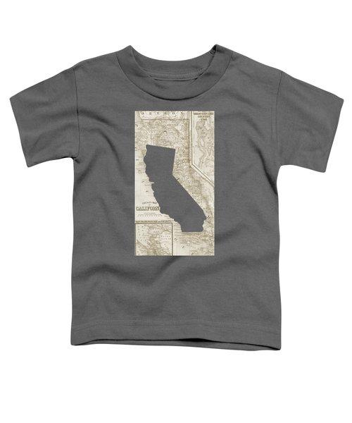 Vintage Map Of California Phone Case Toddler T-Shirt