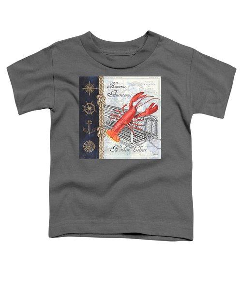 Vintage Nautical Lobster Toddler T-Shirt