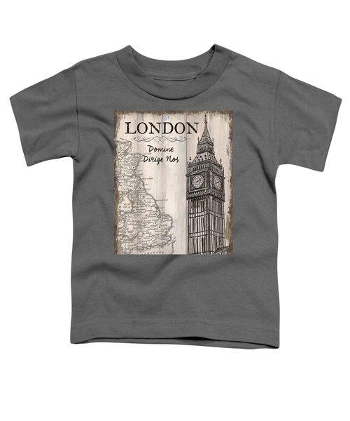 Vintage Travel Poster London Toddler T-Shirt