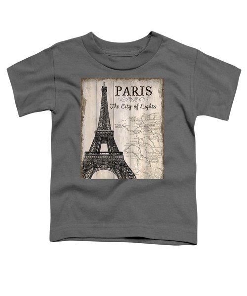 Vintage Travel Poster Paris Toddler T-Shirt