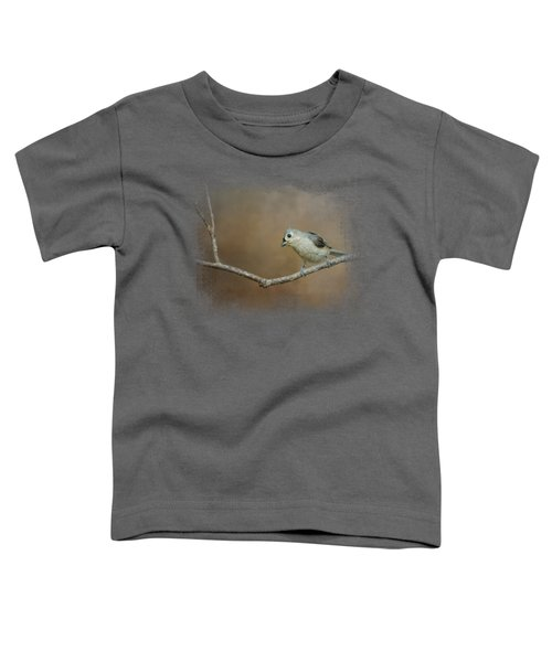 Visiting Tufted Titmouse Toddler T-Shirt by Jai Johnson