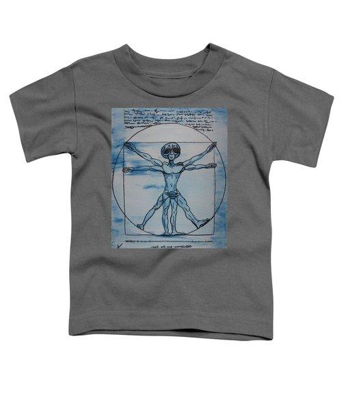 Vitruvian Alien Toddler T-Shirt