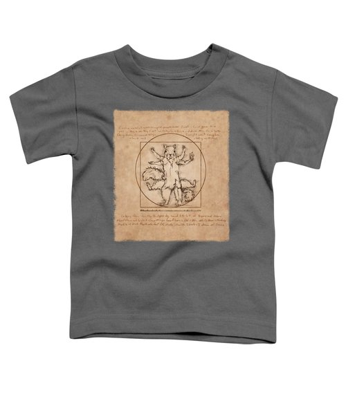 Vitruvian Squirrel Toddler T-Shirt by Katherine Nutt