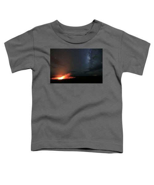 Volcano Under The Milky Way Toddler T-Shirt