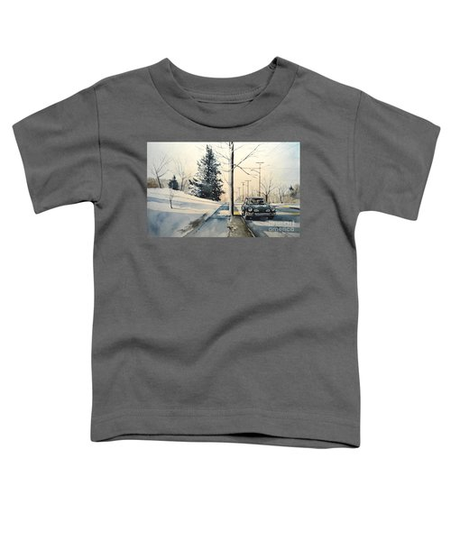 Volkswagen Karmann Ghia On Snowy Road Toddler T-Shirt