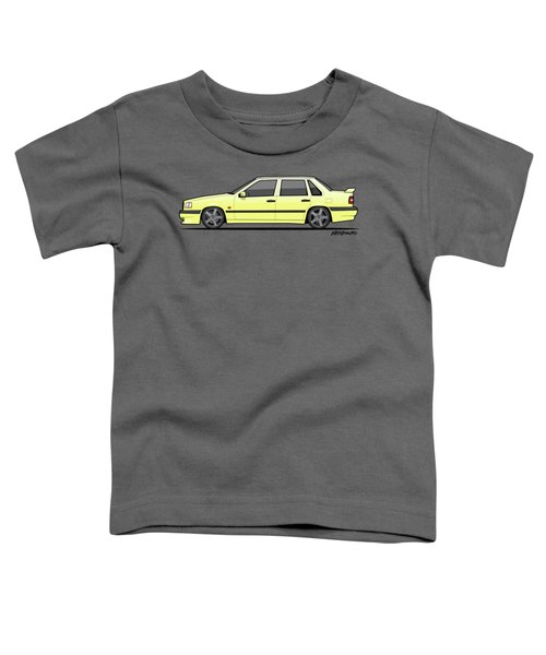 Volvo 850r 854r T5-r Creme Yellow Toddler T-Shirt by Monkey Crisis On Mars