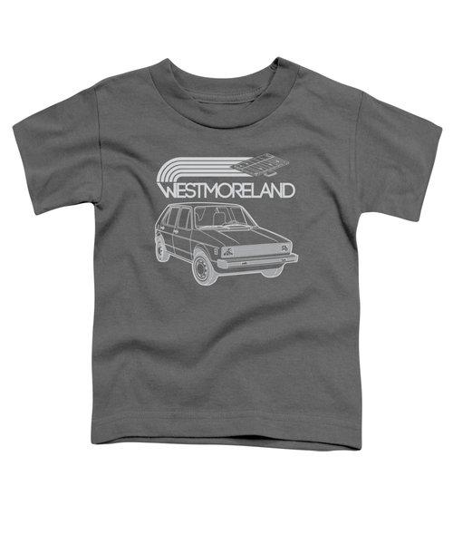 Vw Rabbit - Westmoreland Theme - Gray Toddler T-Shirt by Ed Jackson