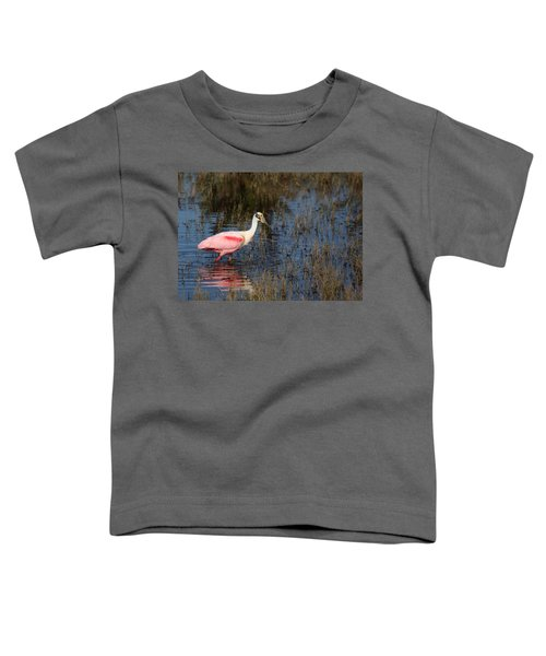 Wading Roseate Spoonbill Toddler T-Shirt