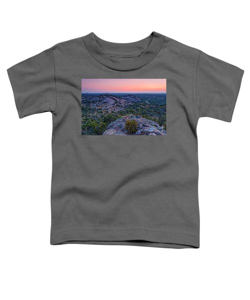 Waiting For Sunrise At Turkey Peak - Enchanted Rock Fredericksburg Texas Hill Country Toddler T-Shirt