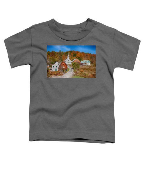 Waits River Church In Autumn Toddler T-Shirt