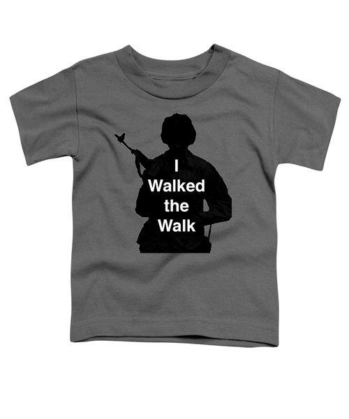 Walk The Walk Toddler T-Shirt by Melany Sarafis